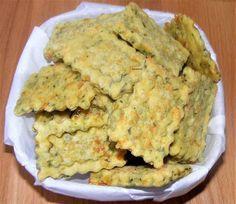 Medvehagymás sajtos keksz recept