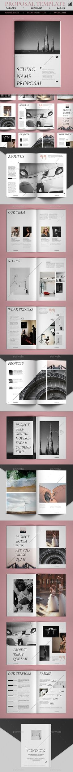 Business Proposal Indesign u0026 MS Word