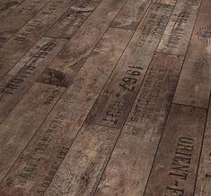 repurposed flooring - wine crates