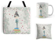 With Love for Books: Bookish Girl Tote Bag, Mug & Pillow Giveaway win a Bookish Girl tote bag, mug and pillow set designed by Eviebookish http://www.withloveforbooks.com/2017/02/bookish-girl-tote-bag-mug-pillow.html