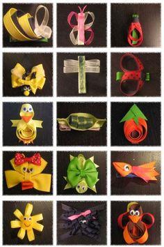 More Cute Ribbon Ideas... Love the turtle!