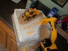 My Uncle made this birthday cake for OWen! awesome cake