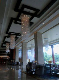 Best hotel in Guilin city, Shangri-la lobby — at Shangri-La Hotel Guilin.