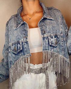 Mode Outfits, Trendy Outfits, Denim Fashion, Fashion Outfits, Denim Ideas, Western Outfits, Diy Clothing, Festival Outfits, Ideias Fashion