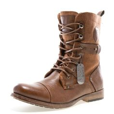 new product 4d75a 1b673 Image 1 Mens Military Boots, Stylish Boots, Leather Men, Leather Boots,  Black