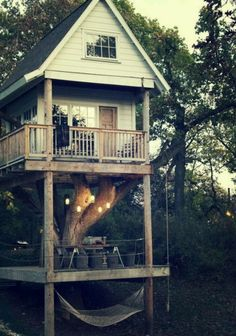 Cabin in the woods, peaceful country life