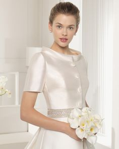 Find Seneca + Jacket Wedding Dress by Rosa Clara Couture Available in 6 boutiques in Canada: Felichia Bridal (Toronto), Kleinfeld Bridal : Hudson's Bay (Toronto), Lidia's Brides (Fergus), The Bridal Gallery (New Westminster), . Crepe Wedding Dress, 2015 Wedding Dresses, Elegant Wedding Dress, Event Dresses, Bridal Dresses, Wedding Gowns, Muslimah Wedding Dress, Bridal Gallery, Ring Verlobung