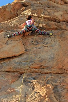 Jackie Trejo spread egale on the crux of Arrogent Bastard 11a. Holcomb Valley. Lets bring back the crazy leggings!!    Photo: Natalie Duran.