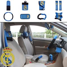 ON SALE # NEW Football Club Realmadrid Car Accessories 10pcs