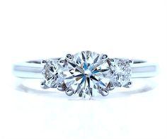 Classic three-stone diamond engagement ring by Ascot Diamonds #ascotdiamonds