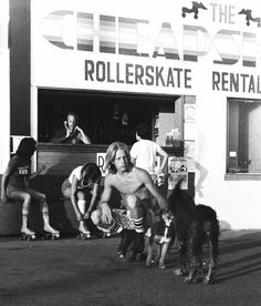 Vintage Venice Beach rollerskate