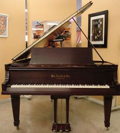 "Rebuilt & refinished 1917  6'5"" Knabe grand piano."
