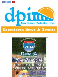 Check out this week's newsletter (June 26)! The Cruise-In is moving to the 900 block!