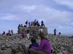 Scafell Pike - busy