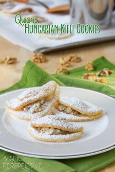 Quickie Kifli Cookies - Reminiscent of Classic Hungarian Kiflis! from @Sommer | A Spicy Perspective