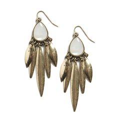 Nadina Fringe Leaf Earrings
