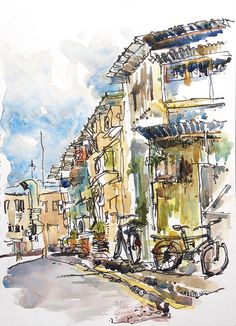 Early morning sketching in Singapore Suhita Shirodkar