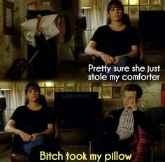 I laughed so hard! Poor Kurt with no pillow now