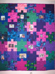 I love puzzle quilts