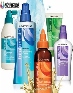 Matrix Total Results!  Perfect for every hair challenge.  These products deliver results you can see and feel!