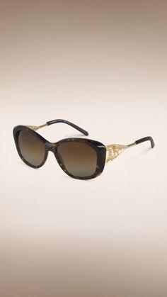Gabardine Collection Square Frame Sunglasses