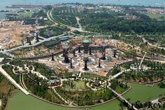 Novo stavaná botanická záhrada.Singapur