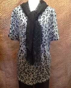 Ivy Beau - Leopard print tunic with front pockets - $50