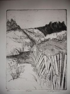 Original Fine Art Etching Fields by papermaker on Etsy, $85.00