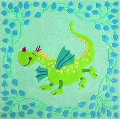 A dragon rug! No more kid' s fears about lovely creatures!