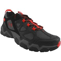 Under Armour Mirage 3 Trail Trail Running Shoes - Mens Black Rhinoceros Grey Red