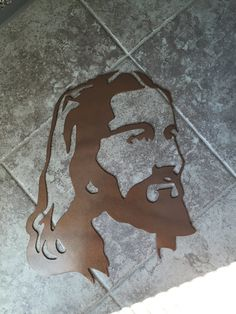 Jesus side profile face metal wall art by MAMWDesigns on Etsy