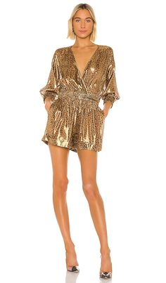 Shop for L'Academie The Katarin Romper in Metallic Leopard at REVOLVE. Acacia Swimwear, Purple Yellow, Green And Grey, Pam & Gela, Sophisticated Dress, Beach Bunny, Ulla Johnson, Rompers Women
