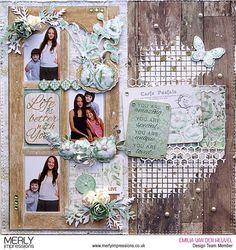 Life is Better with You layout with Memory lane Scrapbook Albums, Scrapbooking Layouts, Multi Photo, Christmas Scrapbook, Wedding Scrapbook, Photo Layouts, Wedding Album, Paper Background, How To Better Yourself
