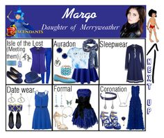 """Margo. Daughter of Merryweather. Next up Mowgli"" by elmoakepoke ❤ liked on Polyvore featuring Grace, Boutique Moschino, Milly, LE3NO, maurices, Elie Saab, Blugirl, Betsey Johnson, French Sole FS/NY and Ollio"