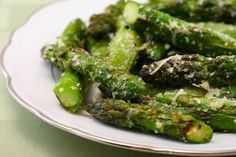 Recipe Favorites:  Grilled Asparagus with Parmesan [from KalynsKitchen.com]