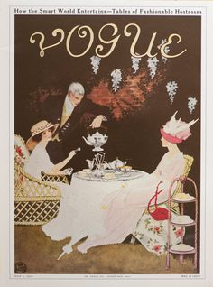 "Vintage Vogue Poster - VOGUE Magazine Cover - July 1911 ""Fashionable Hostesses"""