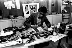 Inside Yves Saint Laurent's Studio - yves-saint-laurent-studio-Wmag