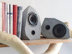 2 bocinas vías Mini Coaxial de alta fidelidad geométrica concreta, conjunto de dos altavoces pasivos, altavoces de escritorio