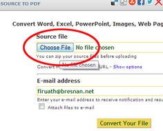 How to convert a file from Word or Excel to PDF