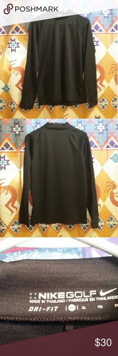 Nike Golf Dri Fit Long Sleeve Nike Golf  Dri-Fit long sleeve shirt. Beautiful Condition! Nike emblem is black and on the collar. This is a really nice shirt. Nike Shirts