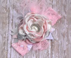A Magic Moment boutique headband Pinkgray by McKenzieGraceDesigns, $29.95