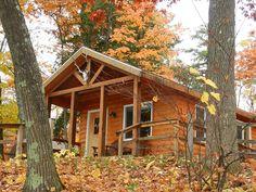 Interlochen State Park camper cabin Interlochen Michigan, Michigan State Parks, Travel Articles, Campsite, Cabins, Acre, Camper, Trail, Camping