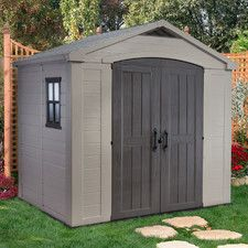keter manor shed 6x4 by keter manor shed steel grey 200x183x111cm masters home - Garden Sheds 6x4