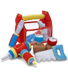 jouet bébé trousse à outils : des jouet en tissu boite bricolage pour enfant #jouetbebe #jouettissu #gaspardetzoe