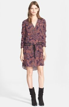 Veronica Beard 'Benson' Paisley Print Silk Dress available at #Nordstrom