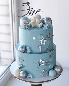 Baby Shower Cakes For Boys, Baby Boy Cakes, Twin Birthday Cakes, Beautiful Birthday Cakes, Crazy Cakes, Dessert Decoration, Holiday Cakes, Pretty Cakes, Themed Cakes