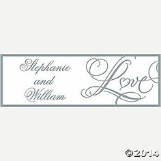 """Personalized """"Love"""" Wedding Banner - Small"""
