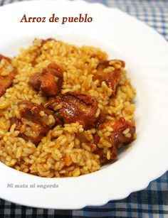 ArrozdePueblo Spanish Food, Spanish Recipes, Grains, Rice, Gastronomia, Cold Cuts, Cooking, Spanish Food Recipes, Seeds