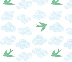 In the Clouds, Summer Skies fabric by sparrowsong on Spoonflower - custom fabric actually this one @Aprille Hanley