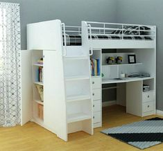 Deciding to Buy a Loft Space Bed (Bunk Beds). – Bunk Beds for Kids Bunk Bed With Desk, Bunk Beds With Stairs, Cool Bunk Beds, Twin Bunk Beds, Kids Bunk Beds, Loft Spaces, Small Spaces, Small Rooms, Queen Loft Beds